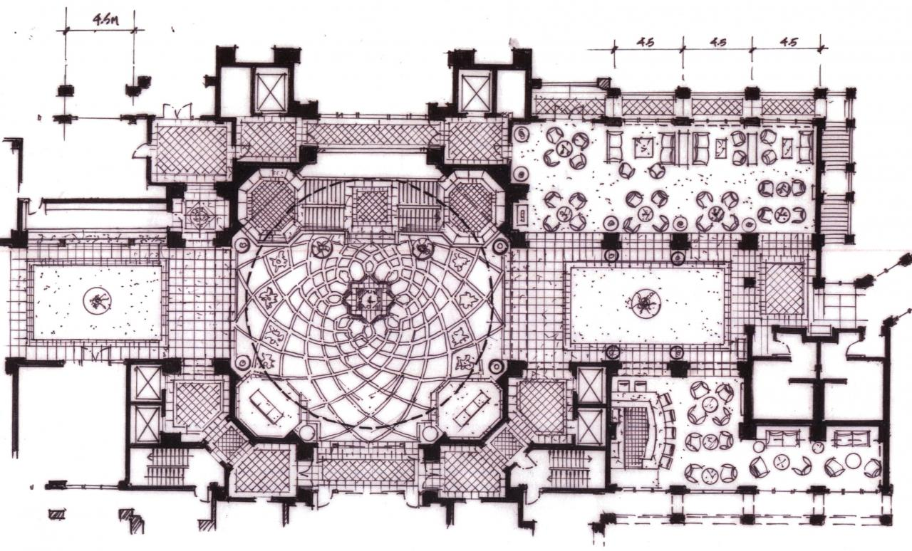 The Legends Resort Hotel Lobby Plan Concept By RO